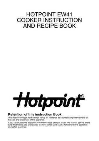 Hotpoint EW41 Operating Guide by download Mauritron #311999