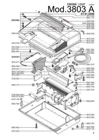 Office Equipment IDEAL 3803 A CROSSCUT 2X15 SHREDDER PARTS by download #335525