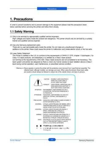 20071105135942203 01-PRECAUTIONS Manual by download Mauritron #302680