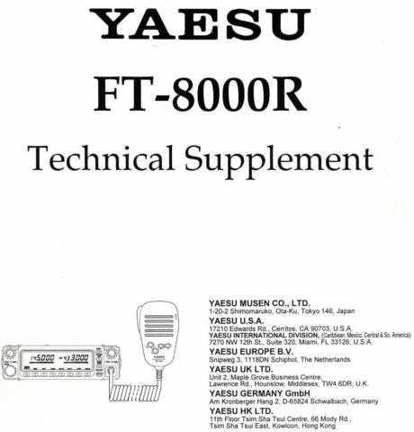 Yaesu FT8000 Service by download Mauritron #306625