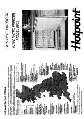 Hotpoint 6955 Refrigeration Operating Guide by download Mauritron #313309