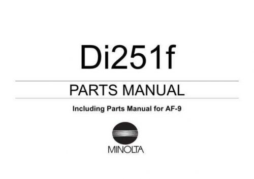 parts Di251f_af-9 Manual by download Mauritron #306157