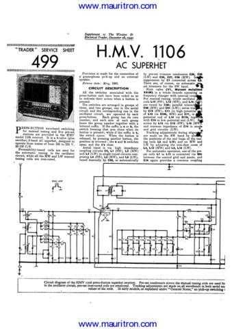 HMV 1106 Service Manual by download Mauritron #312313