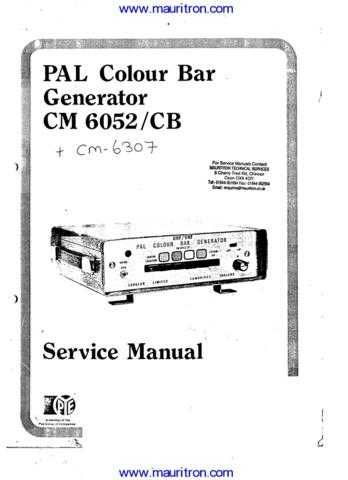 Labgear CM6052 etc Manual by download Mauritron #312527