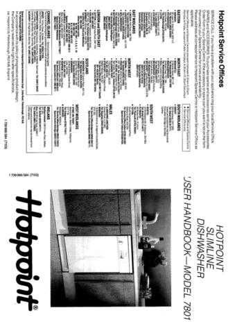Hotpoint 7802 Dishwasher Operating Guide by download Mauritron #313320