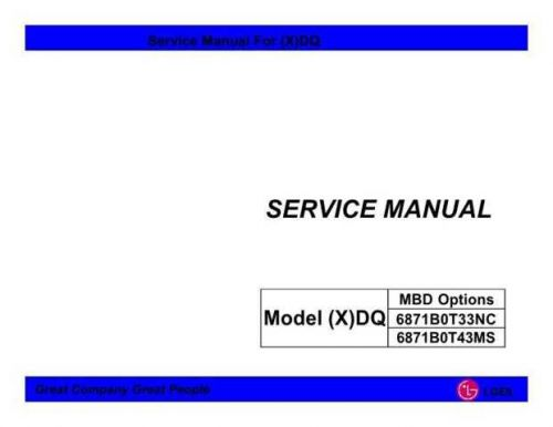 LG LG-XDQ-L2CAR11.BX0A1IN Manual by download Mauritron #305275