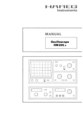 Hameg HM204-2_ Operating Guide in French by download Mauritron #309844