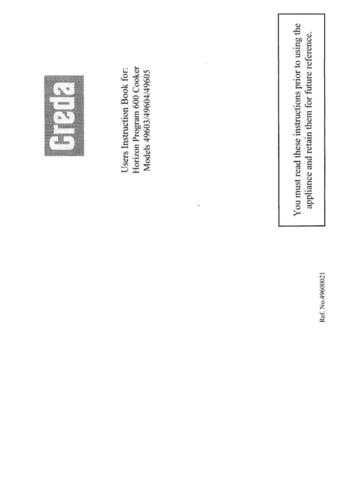 Creda HB49605 Operating Guide by download Mauritron #312954