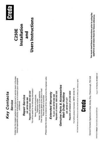 Creda C250 Operating Guide by download Mauritron #312821
