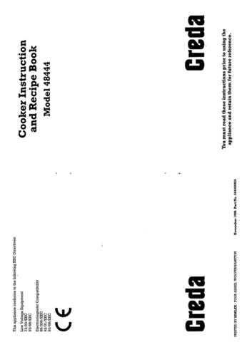 Creda 48444 Operating Guide by download Mauritron #312761