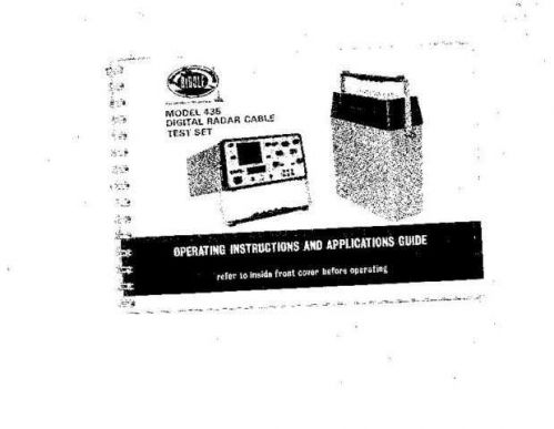 Megger 435F Operating Guide by download Mauritron #310072