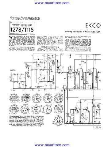 EKCO. T283 Vol 2. Equipment. Service Information. by download Mauritron #327430