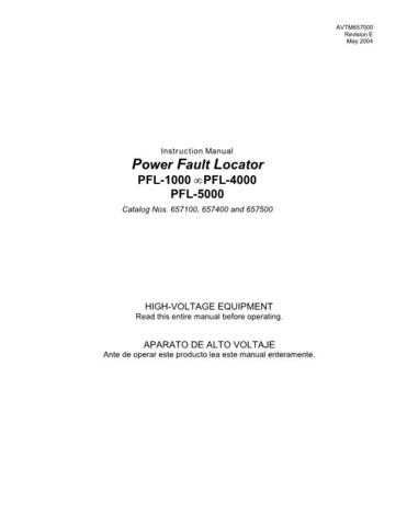 Biddle PFL-5000 Operating Guide by download Mauritron #309772