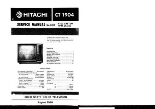Hitachi CHASSIS-NP9X-2 Service Manual by download Mauritron #288768