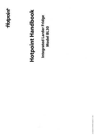 Hotpoint BL30 Refrigeration Operating Guide by download Mauritron #313526