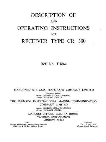 Military CR300 Manual by download #334858