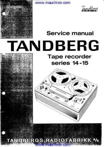 Tandberg Series Manual by download Mauritron #312678