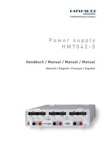 Hameg HM7042_3_ Operating Guide in French by download Mauritron #309861