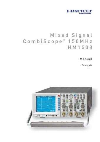 Hameg HM1508_ Operating Guide in French by download Mauritron #309840