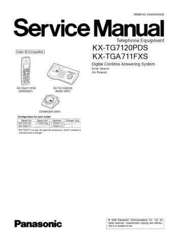 Panasonic TG7120PD Manual by download Mauritron #302297