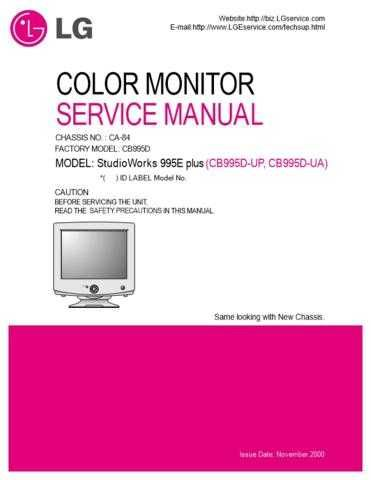 LG 3828TSL038H(CB995D_plus) Manual by download Mauritron #304149