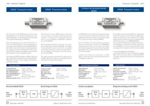 Hameg HZ560 Operating Guide by download Mauritron #307322