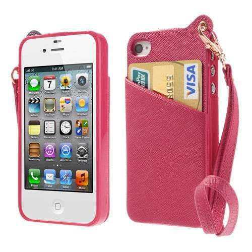 Case Back Cover Shell For iPhone 4 4s Rose Color