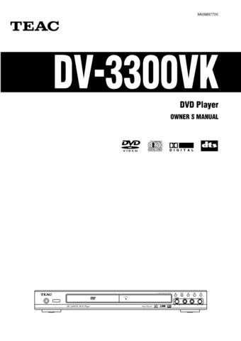 Teac DV60EFC Operating Guide by download Mauritron #318651