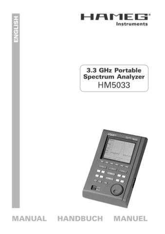 Hameg HM5033 Operating Guide by download Mauritron #307194