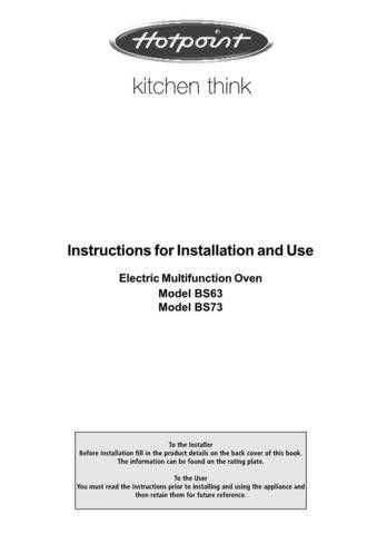 Hotpoint BS63 BS73(2) Operating Guide by download Mauritron #311890