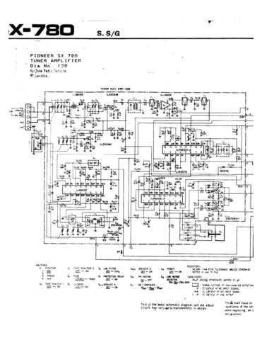 Pioneer SX780 Schematics Manual by download Mauritron #312582