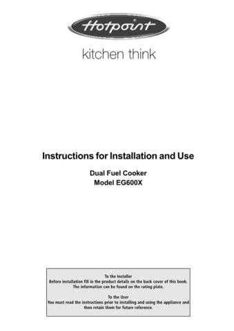 Hotpoint EG600X Operating Guide by download Mauritron #311977