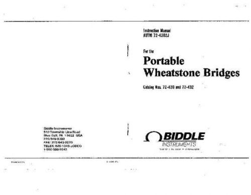 Biddle AVTM55-1Ja Operating Guide by download Mauritron #309455