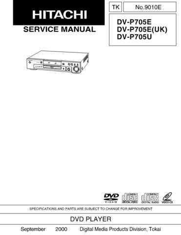 Hitachi DVP300U(PX) Service Manual by download Mauritron #289869
