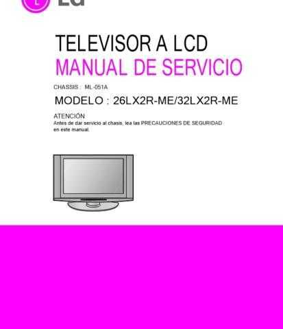 LG LG-26LX2R-ME Manual by download Mauritron #304807