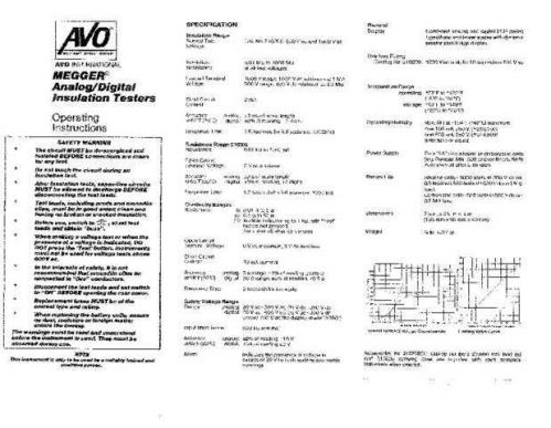 AVO 21-050Ja Operating Guide by download Mauritron #308686