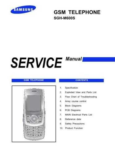 Samsung SGH-M600S Mobile Phone Service Manual by download Mauritron #306386