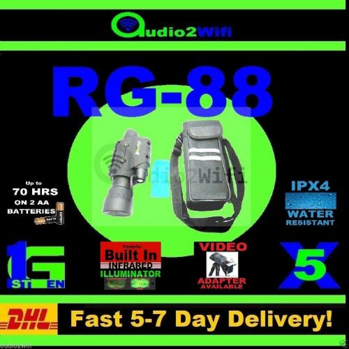FREE SHIPPING NEW RG-88 5X50 NIGHTVISION IR MONOCULAR BINOCULARS SCOPE INFRARED
