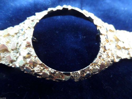 Men's Heavy Nugget watch band. Layered with 10 mils of 14 karat GOLD. No watch.