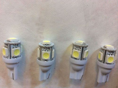 FIVE -T10 Auto Wedge Style 5 LED Bright White Lights - lot of 5 - Fast Free Ship
