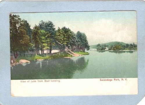 New York Sacandaga Park View Of Lake From Boat Landing ny_box5~1967