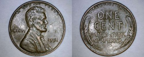 1951-P Abraham Lincoln Wheat Penny