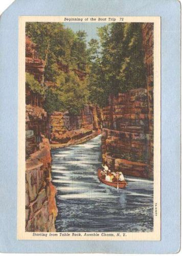 New York Ausable Chasm Beginning Of Boat Trip Starting From Table Rock ny_~1519