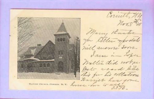 New York Corinth Baptist Church Small Size Card w/Half Picture view Large ~201