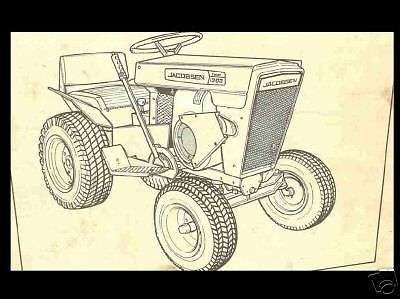 JACOBSEN CHIEF SUPER CHIEF TRACTOR MANUAL Set for 800 1000 1200 & Mower models