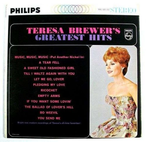 TERESA BREWER ~ Teresa Brewer's Greatest Hits 1962 Pop LP