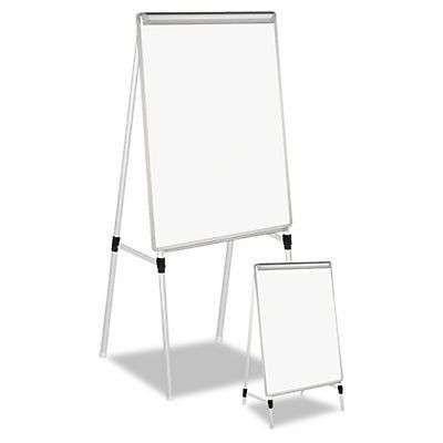 Adjustable Dry Erase Easel 29x40 White Board Silver Frame Whiteboard Marker Offi