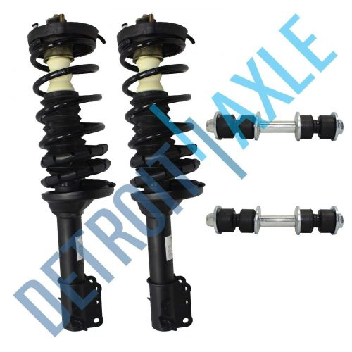 2 Rear Driver and Passenger Complete Ready Strut Assembly + 2 Sway Bar Links Kit