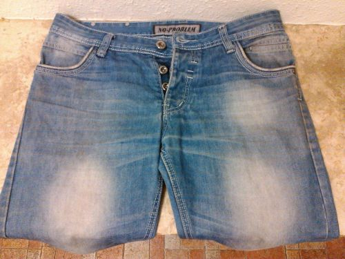 Jeans for Men, Rubbed Style, torn in lower bottom area, Size 32, 100% Cotton