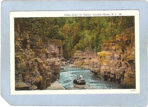 New York Ausable Chasm Going Down The Rapids ny_box5~1481